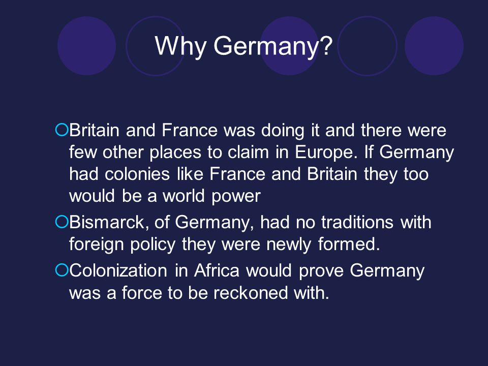 Why Germany