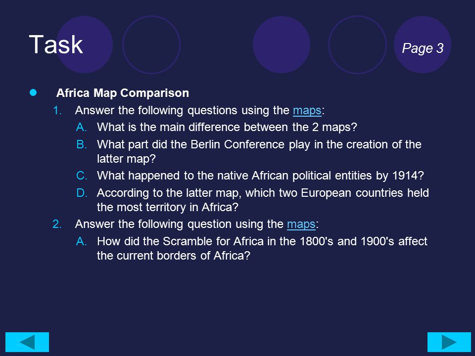 Task Page 3 Africa Map Comparison