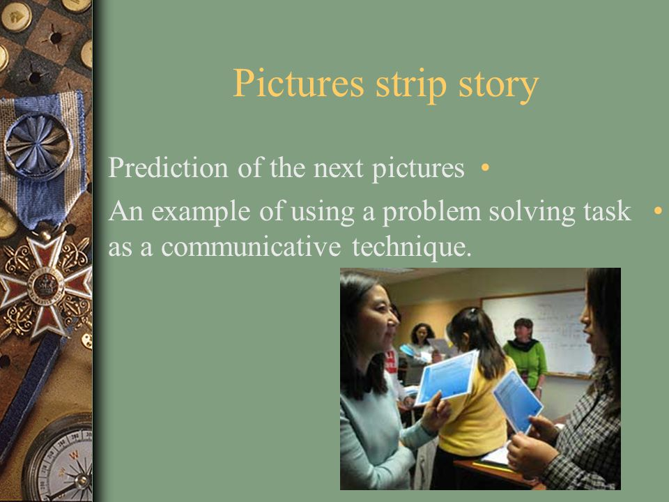 Pictures strip story Prediction of the next pictures