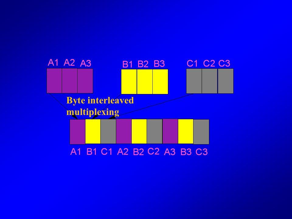 Byte interleaved multiplexing