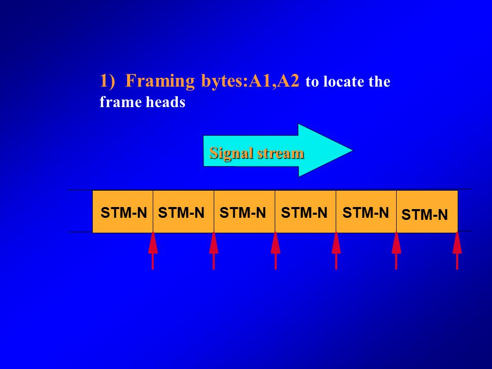 1) Framing bytes:A1,A2 to locate the frame heads