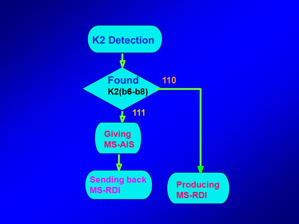 K2 Detection Found 110 111 K2(b6-b8) Giving MS-AIS Sending back MS-RDI