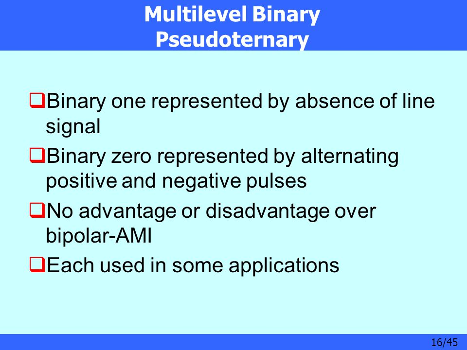 Multilevel Binary Pseudoternary