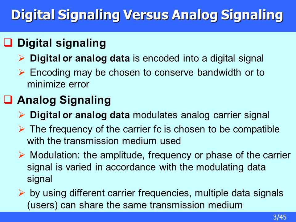 Digital Signaling Versus Analog Signaling