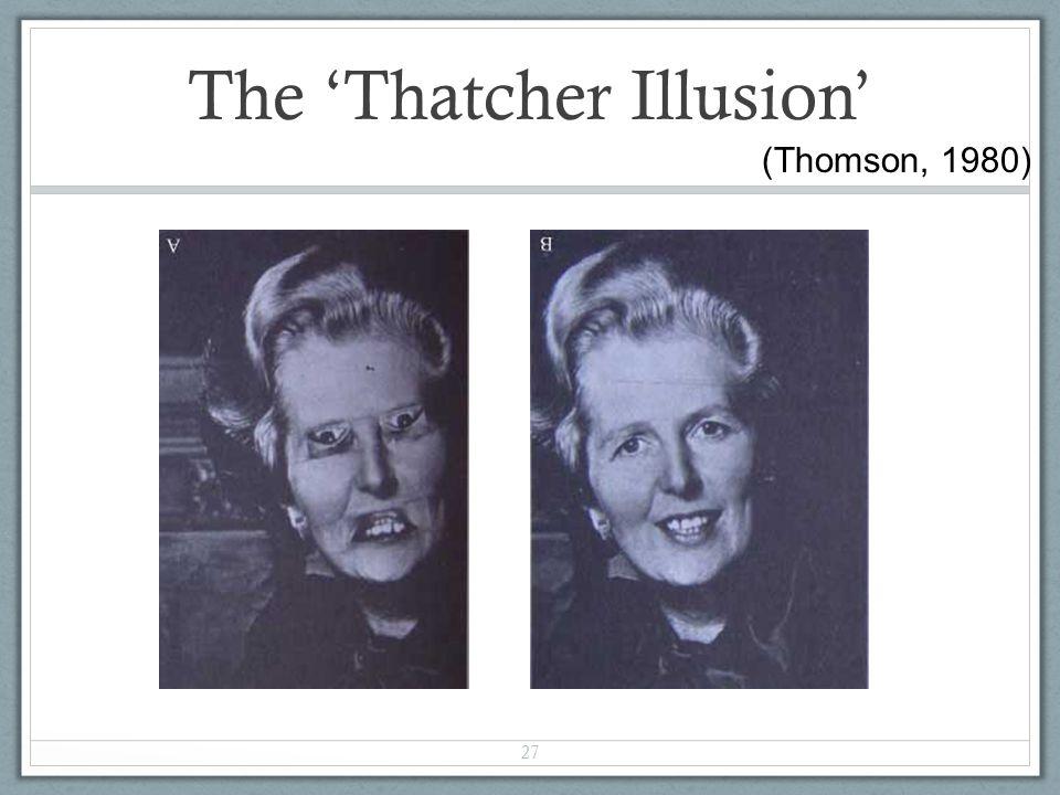 The 'Thatcher Illusion'