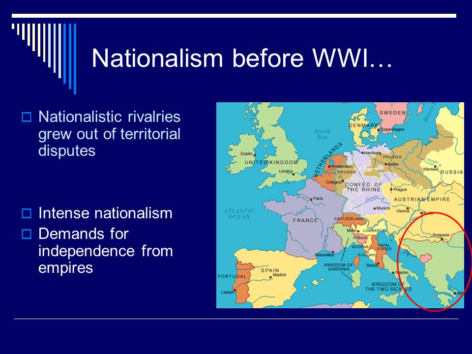 Nationalism before WWI…