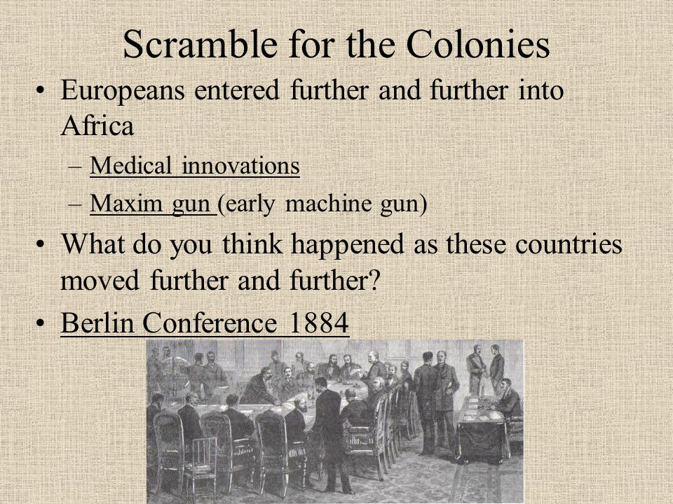 Scramble for the Colonies