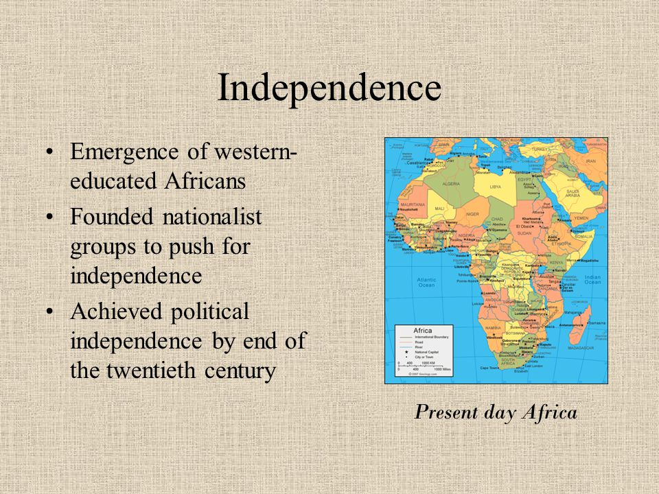 Independence Emergence of western-educated Africans