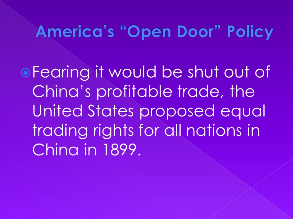 America's Open Door Policy