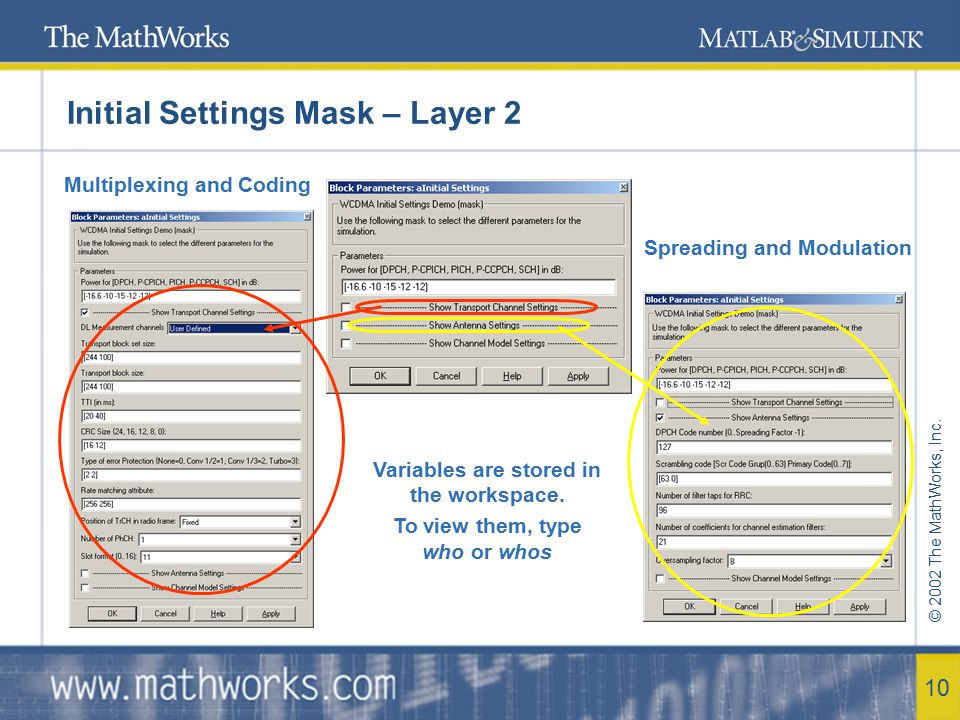 Initial Settings Mask – Layer 2