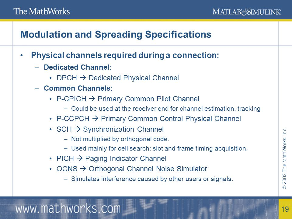 Modulation and Spreading Specifications