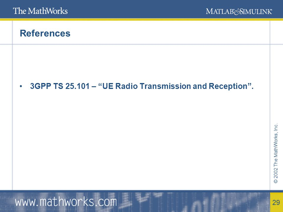 References 3GPP TS 25.101 – UE Radio Transmission and Reception .