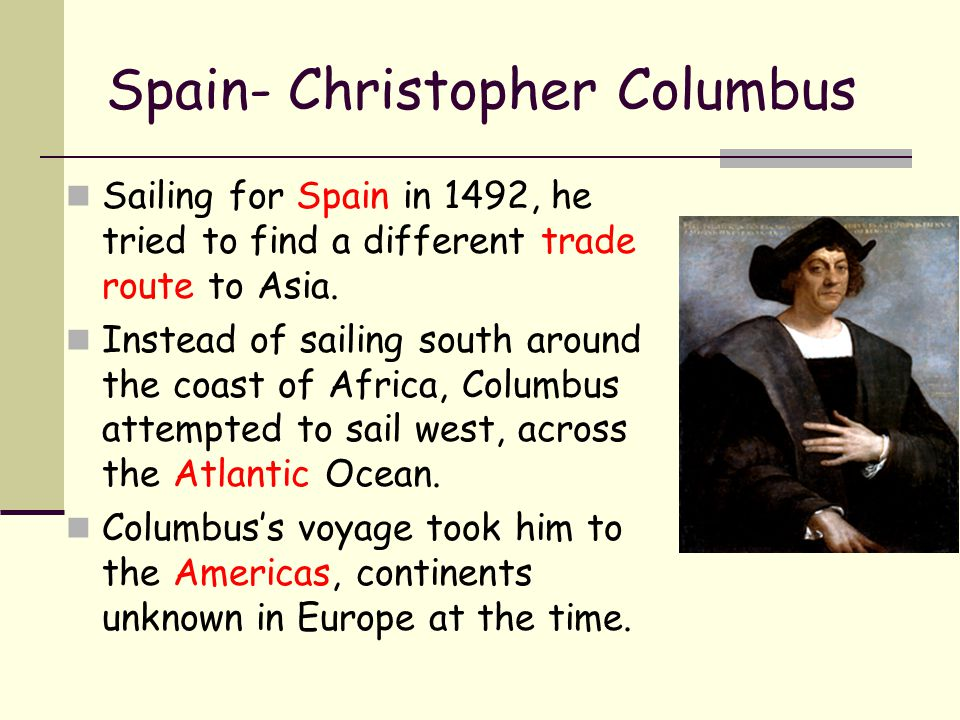 Spain- Christopher Columbus