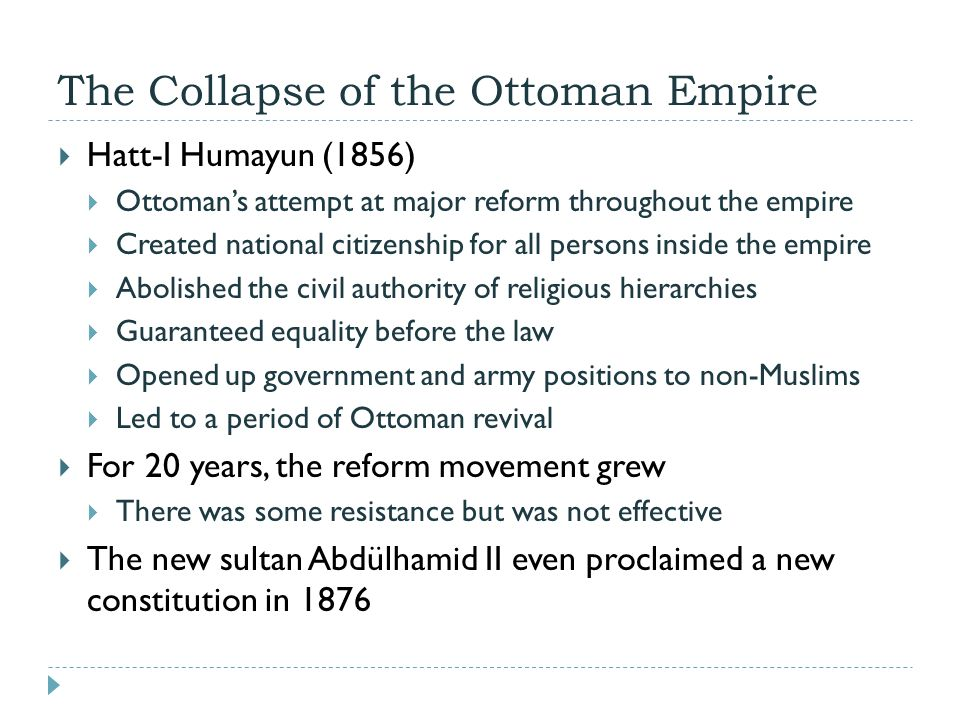 The Collapse of the Ottoman Empire