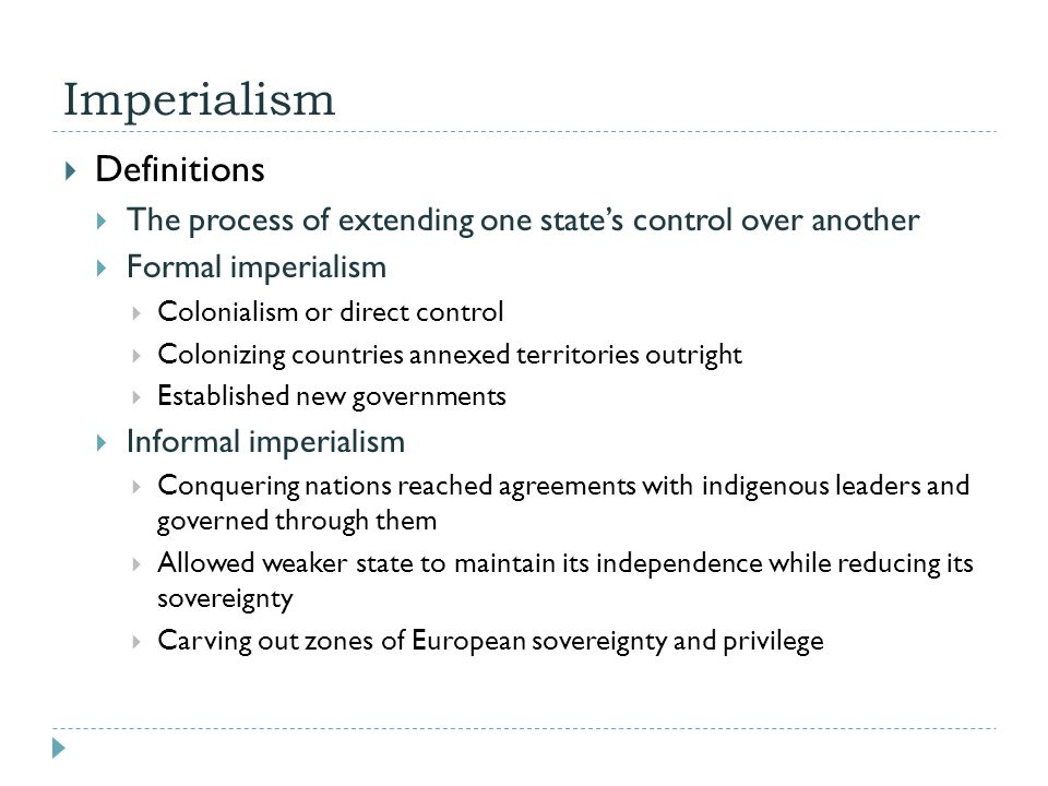 Imperialism Definitions