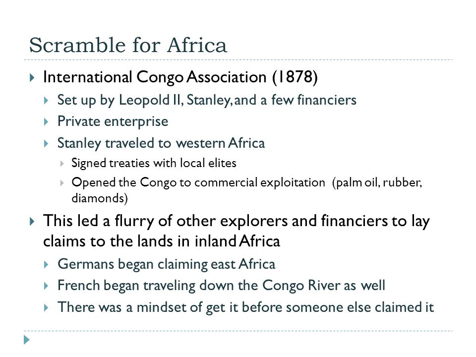 Scramble for Africa International Congo Association (1878)