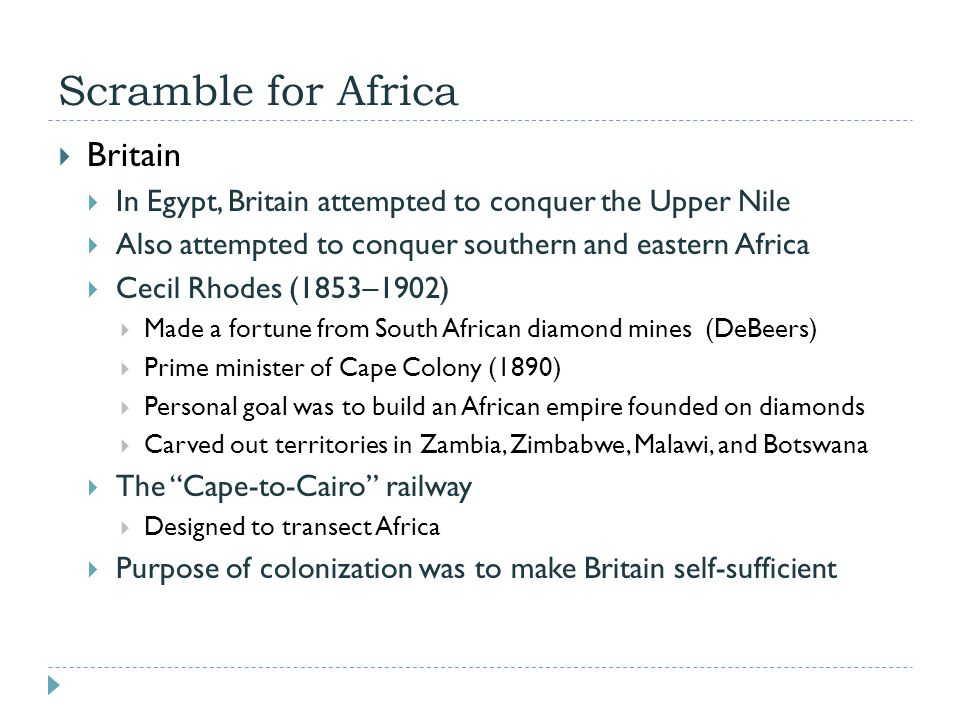 Scramble for Africa Britain