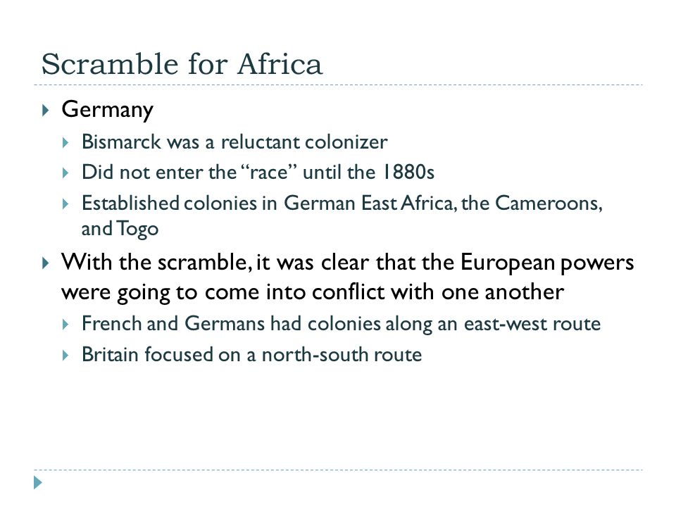 Scramble for Africa Germany