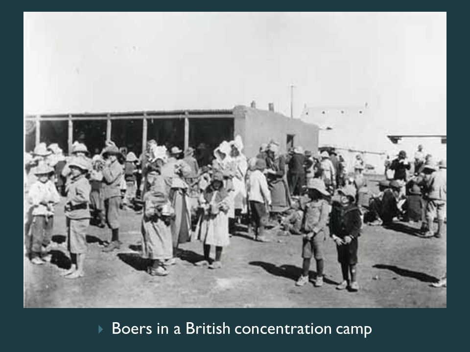 Boers in a British concentration camp
