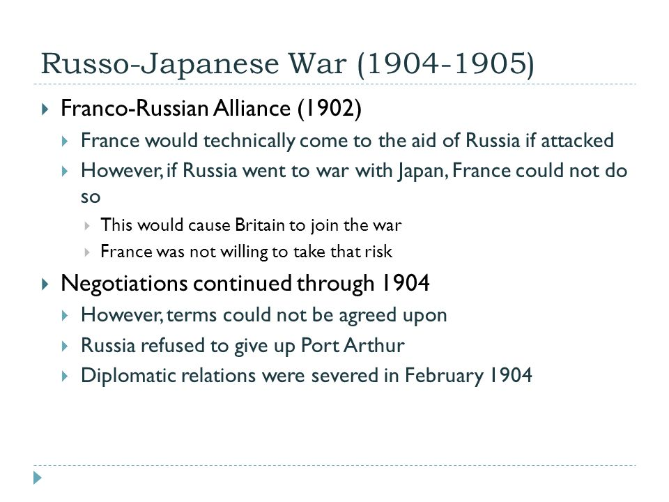 Russo-Japanese War (1904-1905)