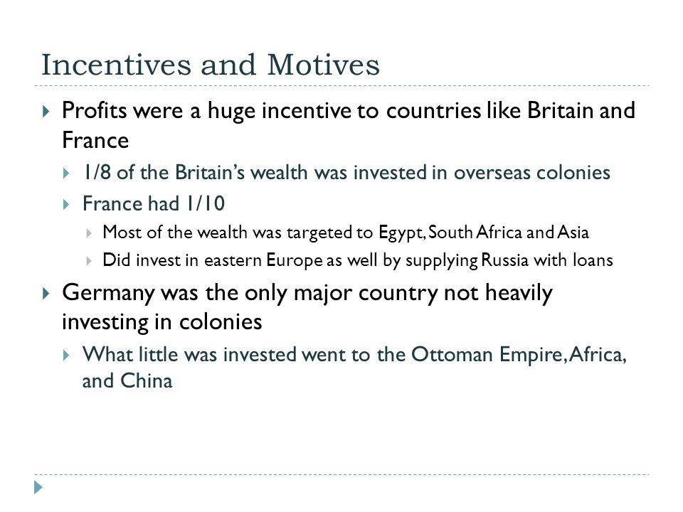 Incentives and Motives