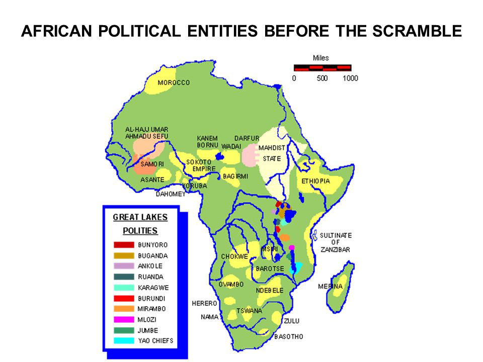 AFRICAN POLITICAL ENTITIES BEFORE THE SCRAMBLE