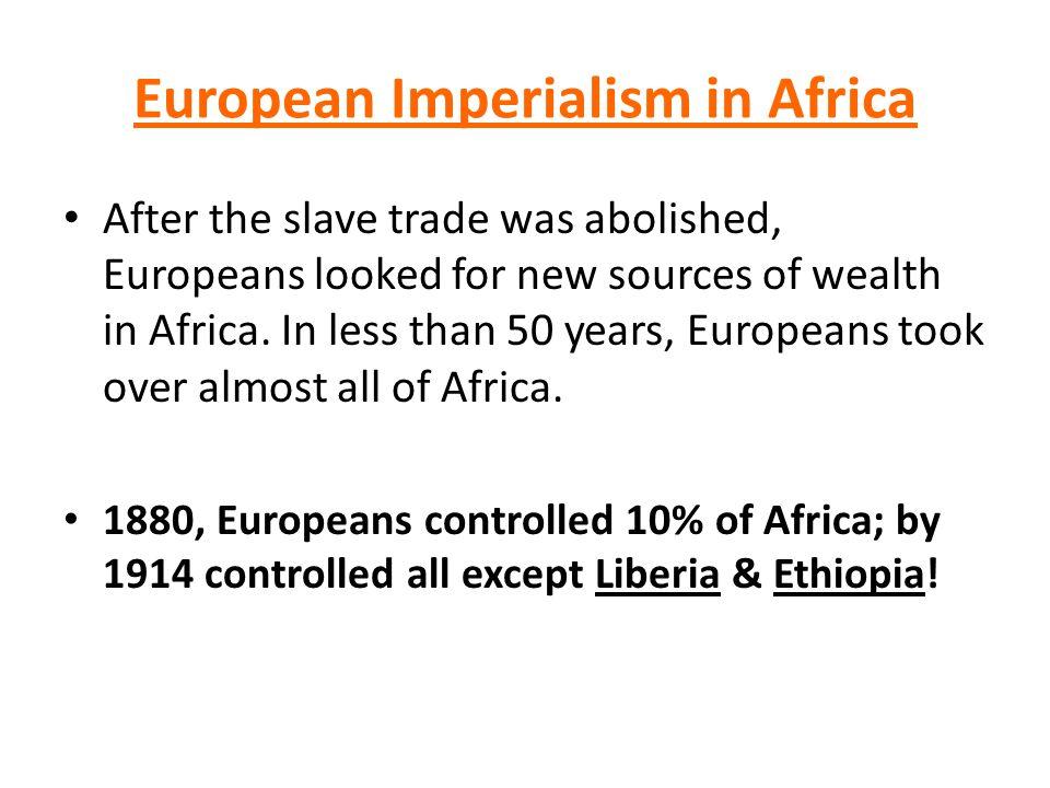 European Imperialism in Africa