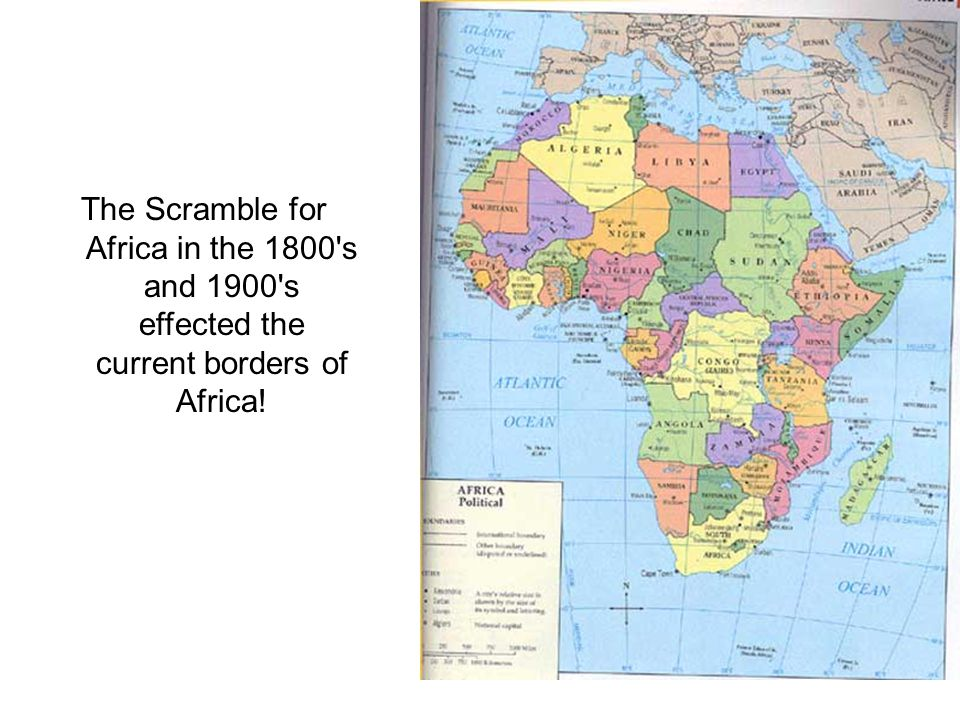 Compare MAP 2 PARTITION OF AFRICA (remember: scroll to the bottom of the page) with the map of Africa from 1997.