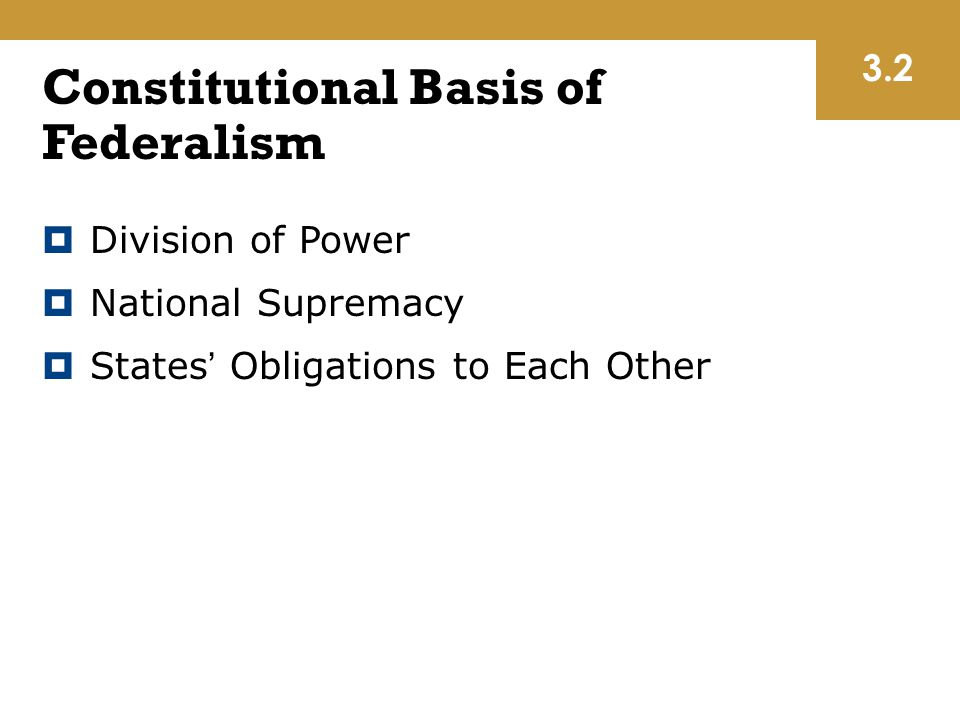 Constitutional Basis of Federalism