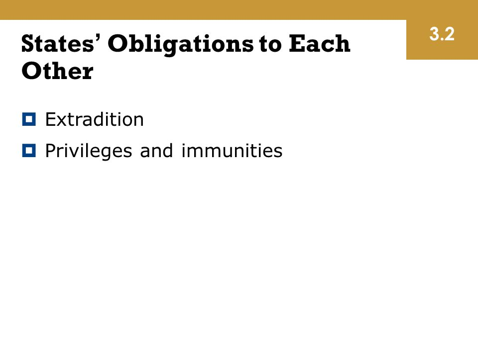 States' Obligations to Each Other