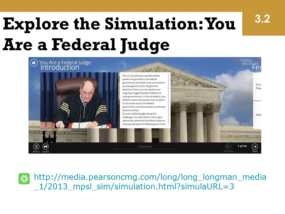 Explore the Simulation: You Are a Federal Judge