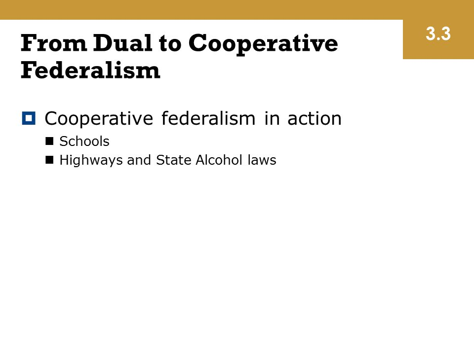 From Dual to Cooperative Federalism