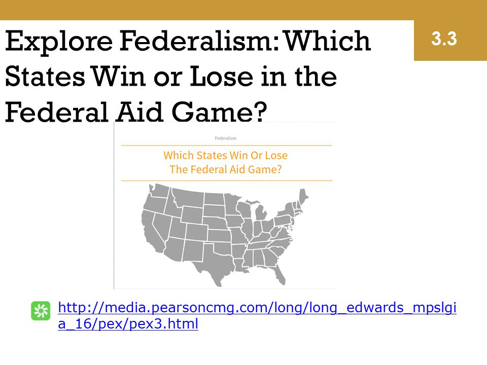Explore Federalism: Which States Win or Lose in the Federal Aid Game