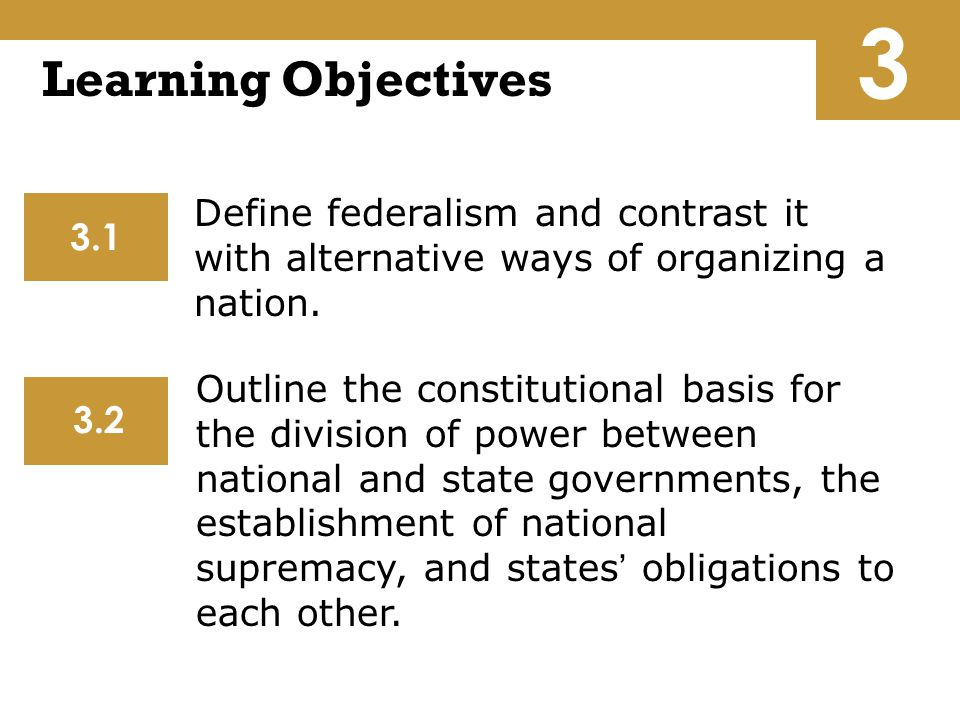 3 Learning Objectives.