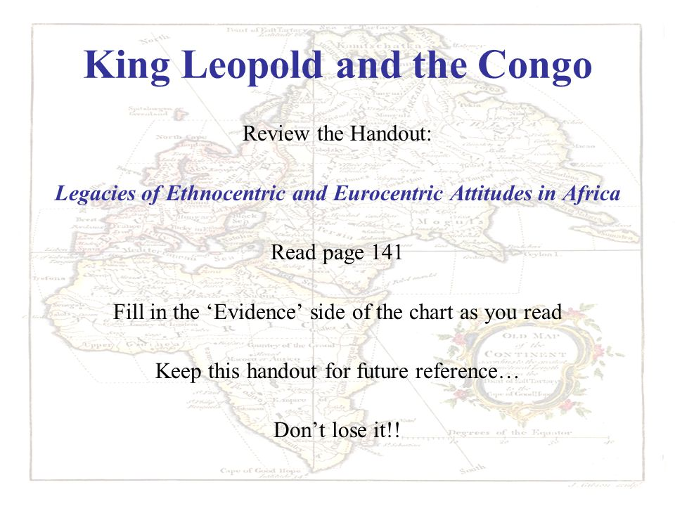 King Leopold and the Congo
