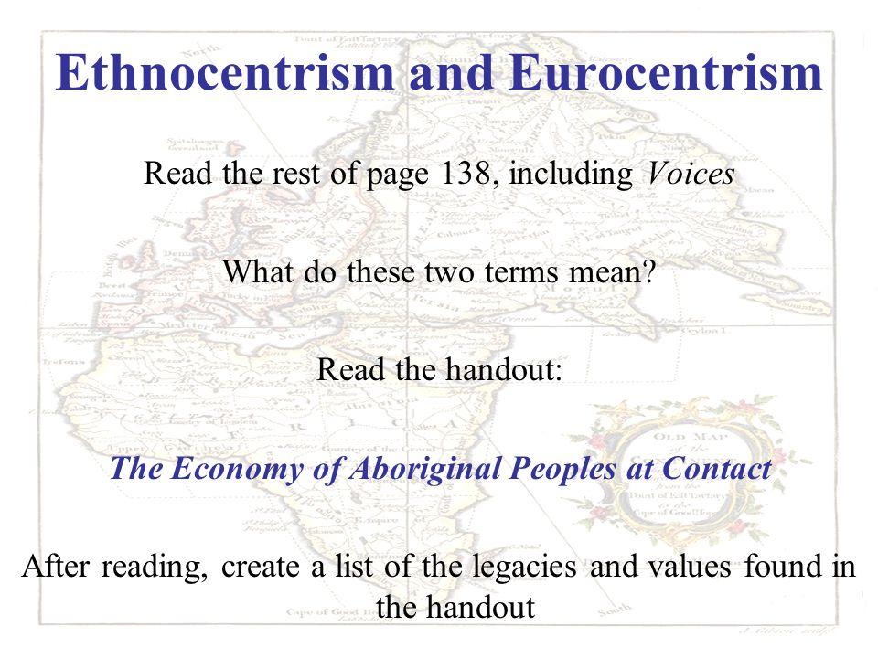 Ethnocentrism and Eurocentrism