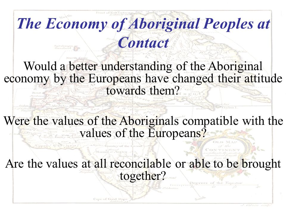 The Economy of Aboriginal Peoples at Contact