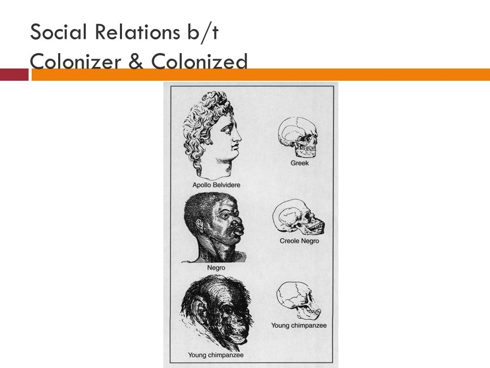 Social Relations b/t Colonizer & Colonized