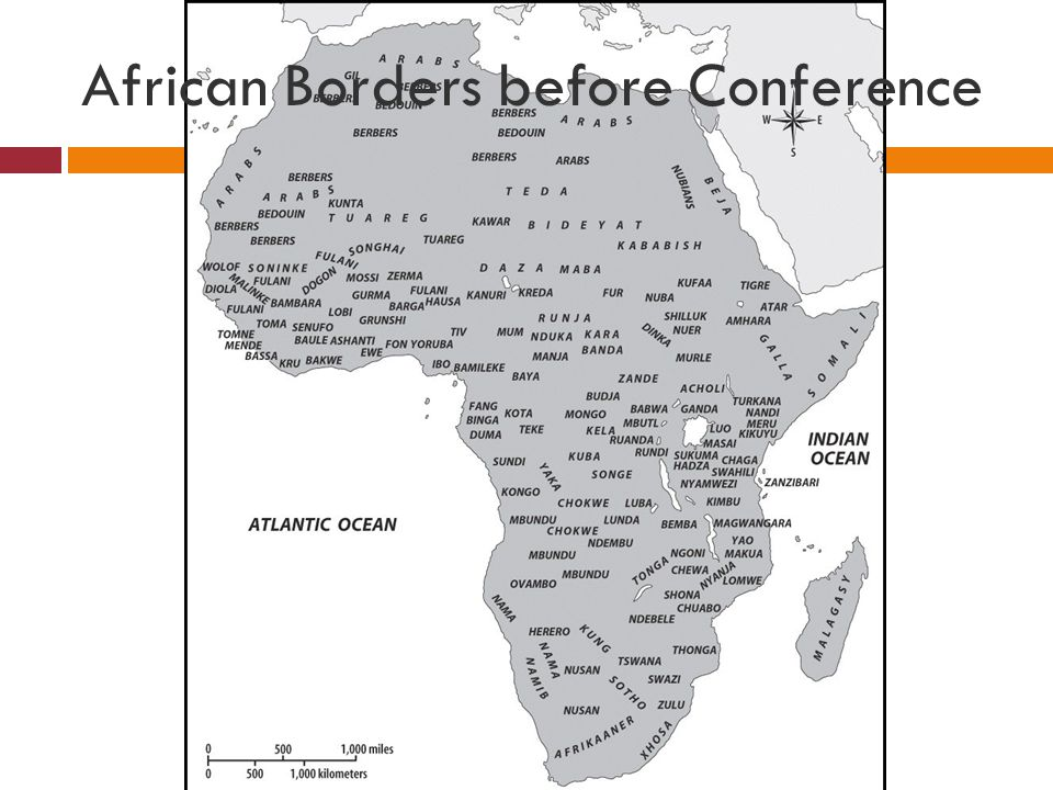 African Borders before Conference