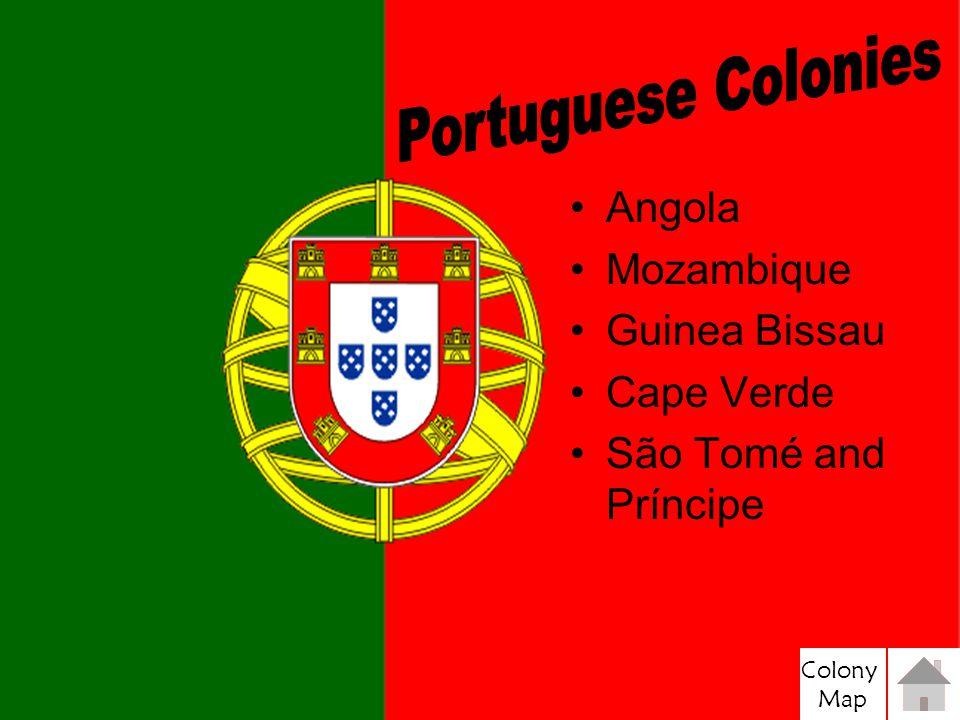 Portuguese Colonies Angola Mozambique Guinea Bissau Cape Verde