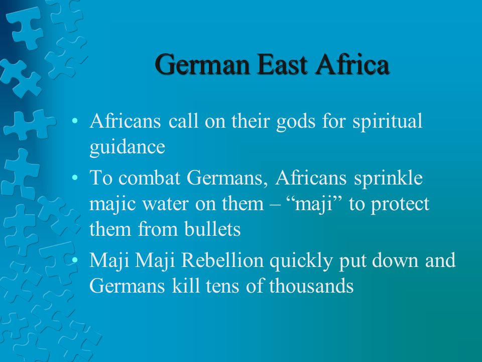 German East Africa Africans call on their gods for spiritual guidance