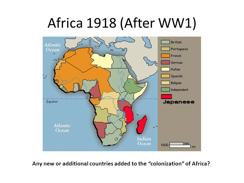 Any new or additional countries added to the colonization of Africa