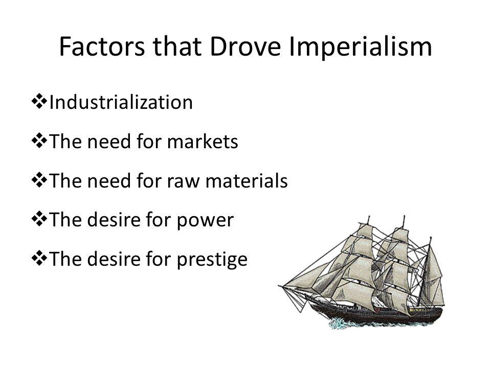 Factors that Drove Imperialism