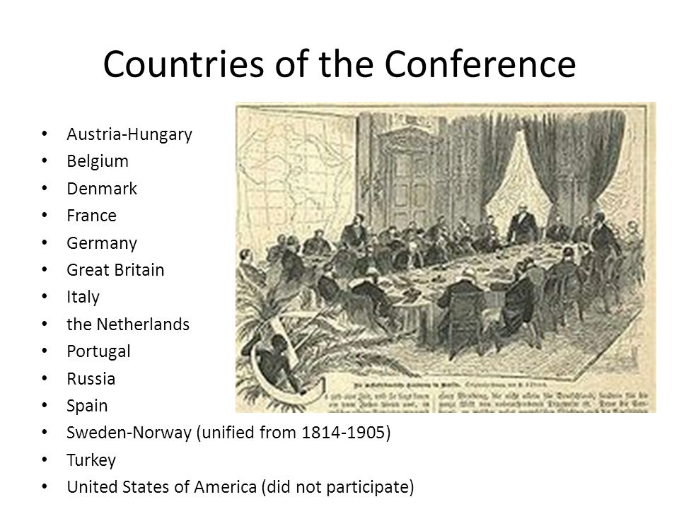 Countries of the Conference