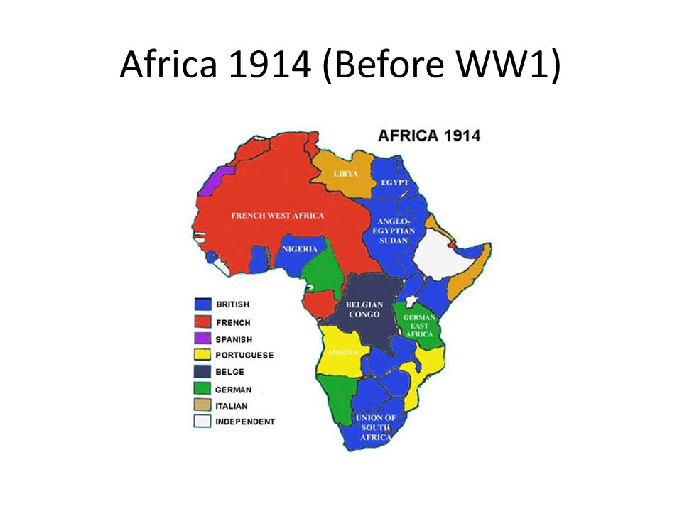 Africa 1914 (Before WW1)