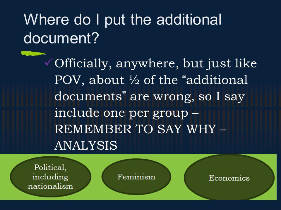 Where do I put the additional document