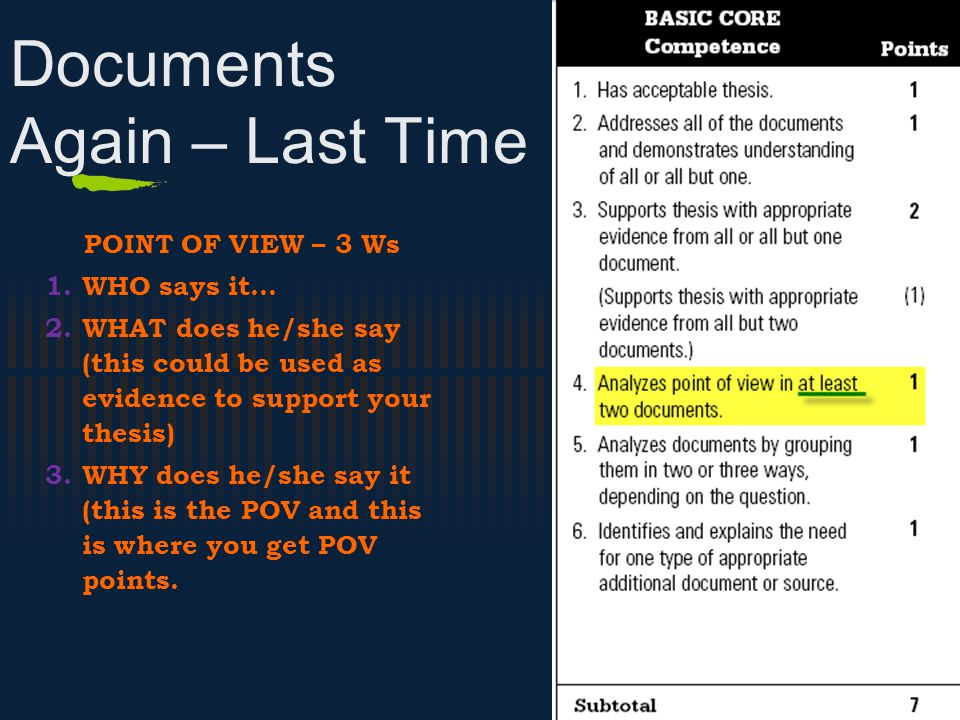 Documents Again – Last Time