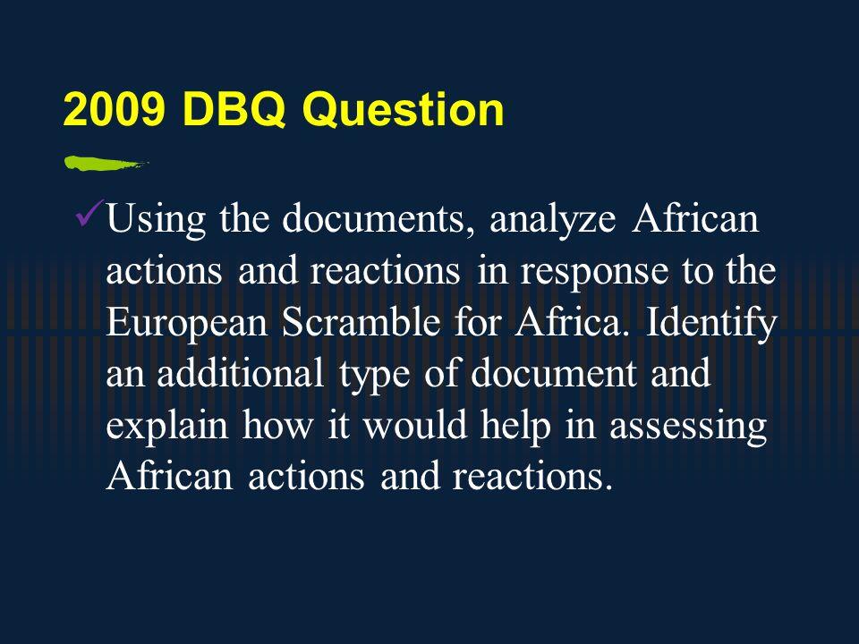 2009 DBQ Question
