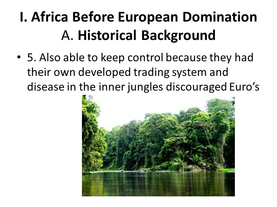 I. Africa Before European Domination A. Historical Background