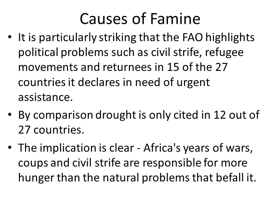 Causes of Famine